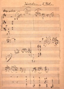 Suite for Violin and Orchestra manuscript, in Lavry's handwriting