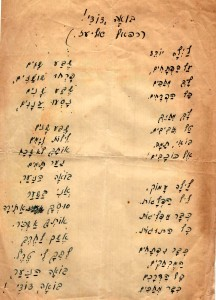 Rafael Eliaz's original handwritten lyrics