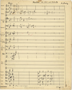 Variations for Choir and Orchestra - first page